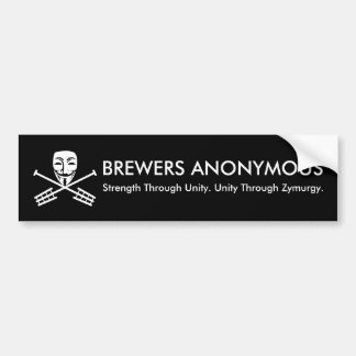 BREWERS ANONYMOUS BUMPER STICKER