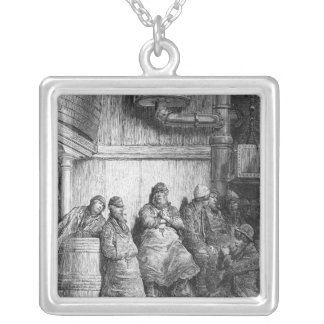 Brewers at Rest Square Pendant Necklace