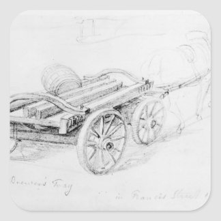 Brewer's Dray in Francis Street, 1833 Sticker