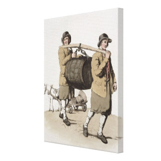 Brewers, from 'Costume of Great Britain' published Gallery Wrap Canvas