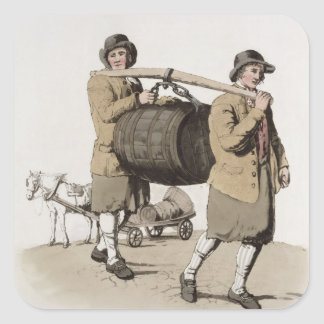 Brewers, from 'Costume of Great Britain' published Square Sticker