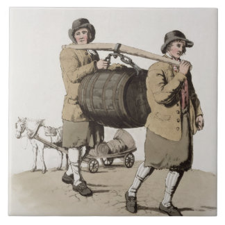 Brewers, from 'Costume of Great Britain' published Ceramic Tile