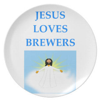 BREWERS PARTY PLATE