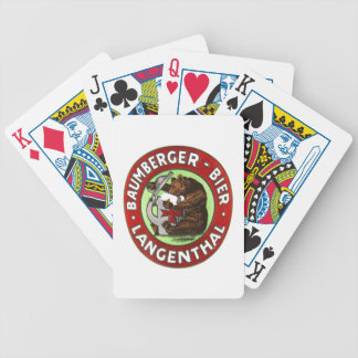 Brewery Baumberger Langenthal of packs of cards
