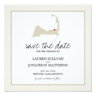 Brewster Cape Cod Wedding Save the Date Card