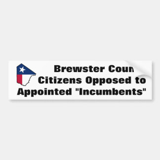 Brewster County Texas bumper sticker