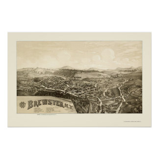 Brewster, NY Panoramic Map - 1887 Poster