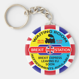 Brexit Basic Round Button Key Ring