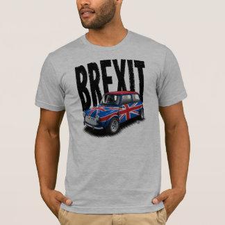 Brexit Classic Mini Car on Gray T-Shirt
