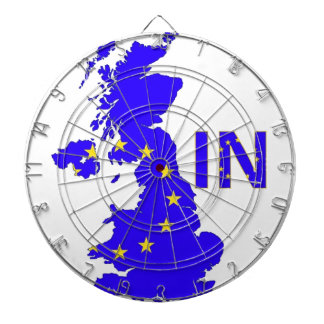 "BREXIT ""IN"" UNION JACK DARTBOARD"