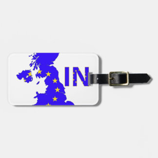 """BREXIT """"IN"""" UNION JACK LUGGAGE TAG"""
