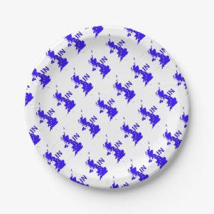 BREXIT \ IN\  UNION JACK PAPER PLATE  sc 1 st  Zazzle & Union Jack Plates | Zazzle.com.au