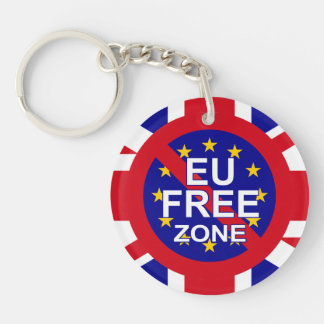 Brexit / Independence Day Double-Sided Round Acrylic Key Ring