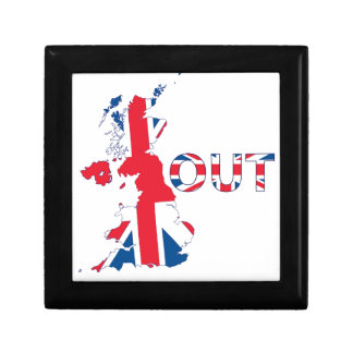BREXIT OUT UNION JACK GIFT BOX