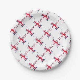 BREXIT OUT UNION JACK PAPER PLATE  sc 1 st  Zazzle & Union Jack Plates | Zazzle.com.au