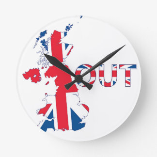 BREXIT OUT UNION JACK ROUND CLOCK