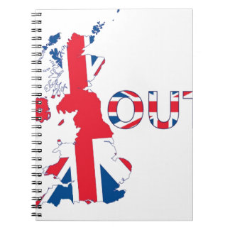 BREXIT OUT UNION JACK SPIRAL NOTEBOOK