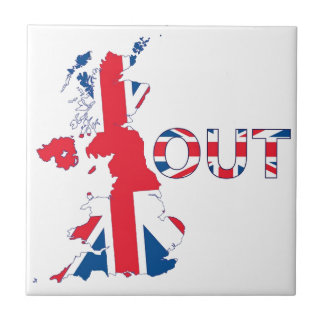 BREXIT OUT UNION JACK TILE