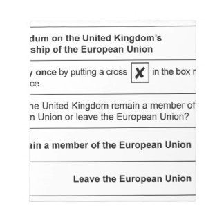 Brexit referendum in UK Notepad