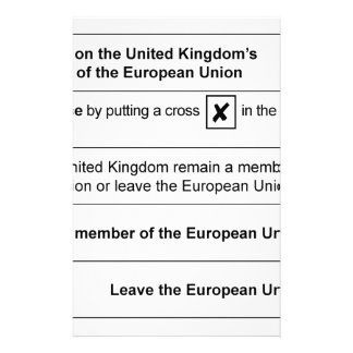 Brexit referendum in UK Stationery