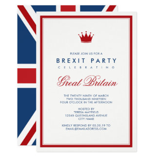 Brexit Union Jack Independence Party Card