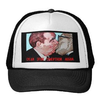 Brezhnev & Honecker Kiss,East Side Gallery, Berlin Trucker Hat