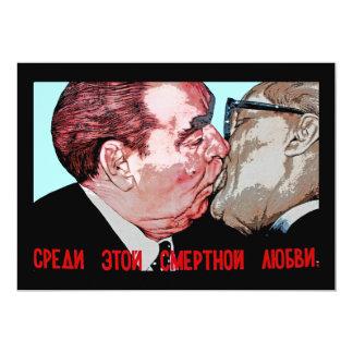 Brezhnev & Honecker Kiss,East Side Gallery, Berlin Invitations