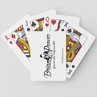 Brian Reaves Logo Playing Cards with website