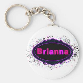 Brianna Nameplate Key Ring