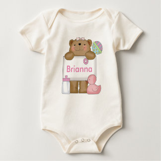 Brianna's Personalized Bear Baby Bodysuit