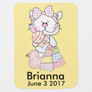 Brianna's Personalized Kitty Baby Blanket