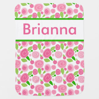 Brianna's Personalized Rose Blanket
