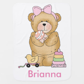 Brianna's Teddy Bear Personalized Gifts Baby Blanket