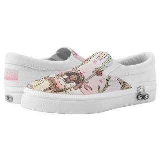 Briar Fawn in a Rose Forest Printed Shoes
