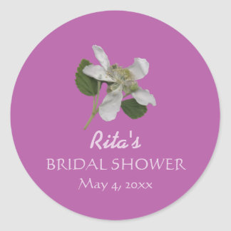Briar Patch/Orchid Country Wedding Round Sticker