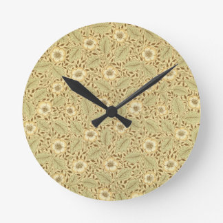 'Briar Rose' wallpaper design Round Clock