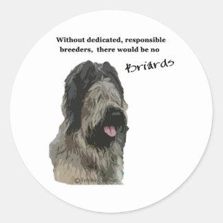 Briard - breeders round sticker