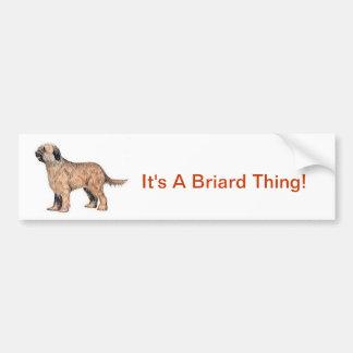 Briard Bumper Sticker