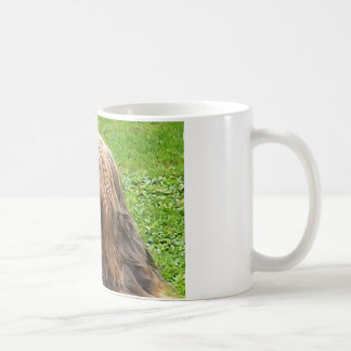 Briard fauve coffee mug