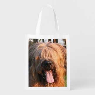 briard.png reusable grocery bag