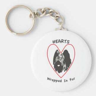 Briards are Hearts wrapped in fur Key Ring