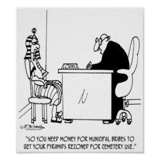 Bribe Cartoon 9515 Poster
