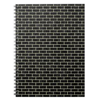 BRICK1 BLACK MARBLE & BEIGE LINEN SPIRAL NOTEBOOK