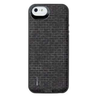 BRICK1 BLACK MARBLE & BLACK WATERCOLOR iPhone SE/5/5s BATTERY CASE