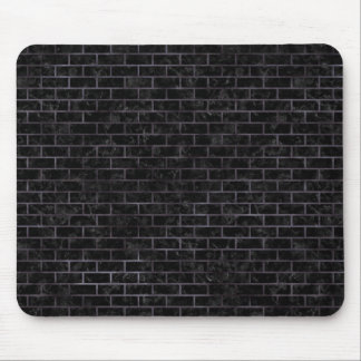 BRICK1 BLACK MARBLE & BLACK WATERCOLOR MOUSE PAD