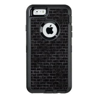 BRICK1 BLACK MARBLE & BLACK WATERCOLOR OtterBox DEFENDER iPhone CASE