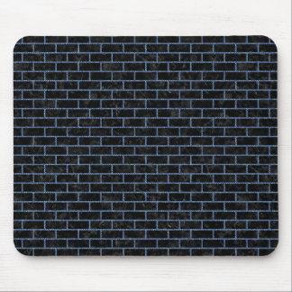 BRICK1 BLACK MARBLE & BLUE DENIM MOUSE PAD