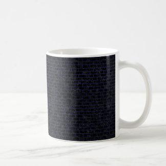 BRICK1 BLACK MARBLE & BLUE LEATHER COFFEE MUG