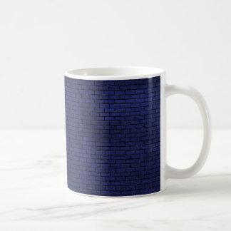 BRICK1 BLACK MARBLE & BLUE LEATHER (R) COFFEE MUG