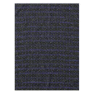 BRICK1 BLACK MARBLE & BLUE LEATHER TABLECLOTH
